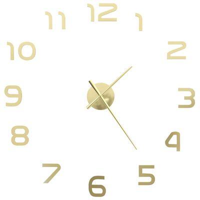 vidaXL 3D sienas pulkstenis, moderns dizains, 100 cm, XXL, zelta krāsa