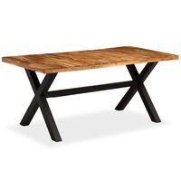 vidaXL virtuves galds, 180x90x76 cm, akācijas un mango masīvkoks