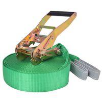 vidaXL līdzsvara lenta, 15 m x 50 mm, 150 kg, zaļa