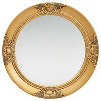 vidaXL baroka stila sienas spogulis, 50 cm, zelta krāsā