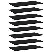 vidaXL plauktu dēļi, 8 gab., melni, 60x30x1,5 cm, skaidu plāksne