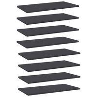vidaXL plauktu dēļi, 8 gab., pelēki, 60x30x1,5 cm, skaidu plāksne