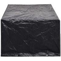vidaXL dārza mēbeļu pārvalks, 8 gredzeni, 180x140x90 cm