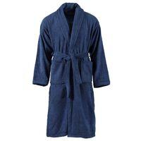 vidaXL halāts, 100% kokvilna, XL, unisex, zils