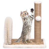 vidaXL kaķu māja ar arkveida suku un stabu nagu asināšanai
