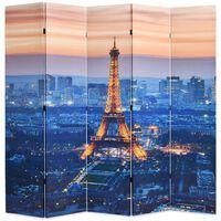vidaXL istabas aizslietnis, 200x170 cm, saliekams, Parīze naktī