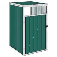 vidaXL nojume atkritumu konteineram, zaļa, 72x81x121 cm, tērauds