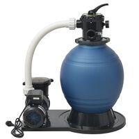 vidaXL baseina smilšu filtrs, sūknis, 1000 W, 16800 L/h, XL