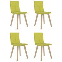 vidaXL virtuves krēsli, 4 gab., sinepju dzeltens audums