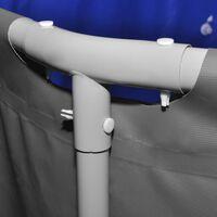 vidaXL peldbaseins ar tērauda rāmi, 457x122 cm, antracītpelēks