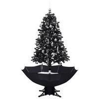 vidaXL mākslīgā Ziemassvētku egle ar pamatni, melna, 170 cm, PVC