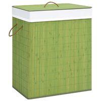 vidaXL veļas grozs, zaļš bambuss, 100 L