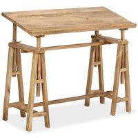vidaXL rasēšanas galds, 116x50x76 cm, mango masīvkoks