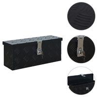 vidaXL alumīnija kaste, 485x140x200 mm, melna