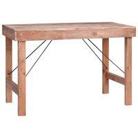 vidaXL virtuves galds, 120x60x80 cm, pārstrādāts masīvkoks