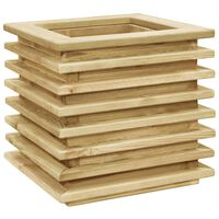 vidaXL augstā puķu kaste, 50x50x40 cm, impregnēts priedes koks