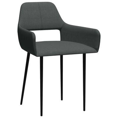 vidaXL virtuves krēsli, 6 gab., tumši pelēks audums