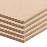 vidaXL MDF plāksnes, 10 gab., kvadrāta, 60x60 cm, 2,5 mm