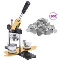 vidaXL nozīmīšu izgatavošanas ierīce, 500 pamatnes, 58 mm