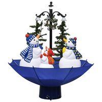 vidaXL mākslīgā Ziemassvētku egle ar pamatni, zila, 75 cm, PVC
