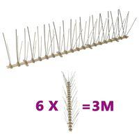 vidaXL putnu atbaidīšanas radzes, 5 rindas, 6 gab., 3 m, plastmasa