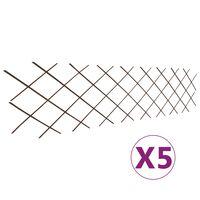 vidaXL špaleru žogs, 5 gab., 180x60 cm, vītola klūgas