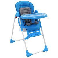 vidaXL bērnu barošanas krēsls, zils ar pelēku