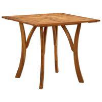 vidaXL dārza galds, 85x85x75 cm, akācijas masīvkoks
