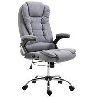 vidaXL biroja krēsls, pelēks poliesters