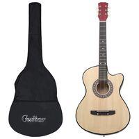 """vidaXL 12-daļīgs akustiskās ģitāras komplekts, ar 6 stīgām, 38"""""""