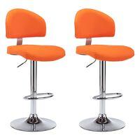 vidaXL bāra krēsli, 2 gab., oranža mākslīgā āda