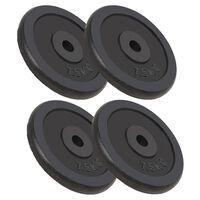 vidaXL svaru diski, 4 gab., 4x7,5 kg, čuguns