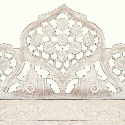 vidaXL 4-paneļu aizslietnis, 160x165 cm, roku darbs, balts, masīvkoks