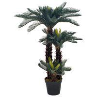 vidaXL mākslīgā cikas palma ar podiņu, 125 cm, zaļa