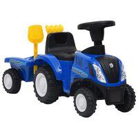 vidaXL bērnu traktors New Holland, zils