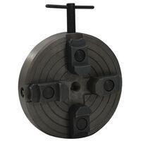 vidaXL 4-žokļu koka virpas patrona, M18 savienojums, 150x63 mm, melna