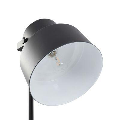 vidaXL stāvlampa, melna, metāls, E27