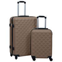 vidaXL cieto koferu komplekts, 2 gab., ABS, brūni