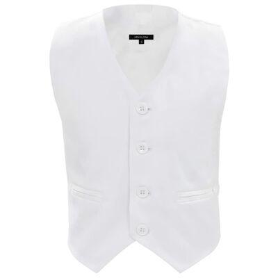 vidaXL trīsdaļīgs bērnu uzvalks, balts, izmērs 92/98