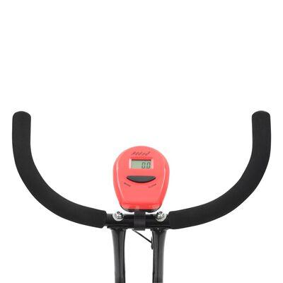 vidaXL velotrenažieris X-Bike, siksnas pretestība, sarkans