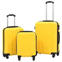 vidaXL cieto koferu komplekts, 3 gab., ABS, dzeltens