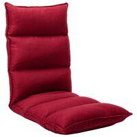 vidaXL salokāms grīdas krēsls, vīnsarkans audums