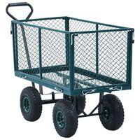 vidaXL dārza ratiņi, zaļi, 350 kg