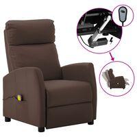 vidaXL elektrisks masāžas krēsls, atgāžams, brūna mākslīgā āda