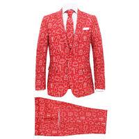 vidaXL divdaļīgs Ziemassvētku uzvalks, vīriešu, 48.izmērs, sarkans