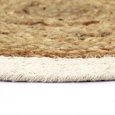 vidaXL galda paliktņi, 6 gab., 38 cm, apaļi, džuta un kokvilna