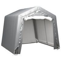 vidaXL uzglabāšanas telts, 240x240 cm, pelēka, tērauds