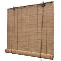 vidaXL ruļļu žalūzija, 150x160 cm, brūns bambuss