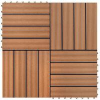 vidaXL terases flīzes, 22 gab., WPC, 30x30 cm, 2 m2, brūnas