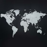 MiMi Innovations koka pasaules kartes sienas dekorācija Luxury, balta